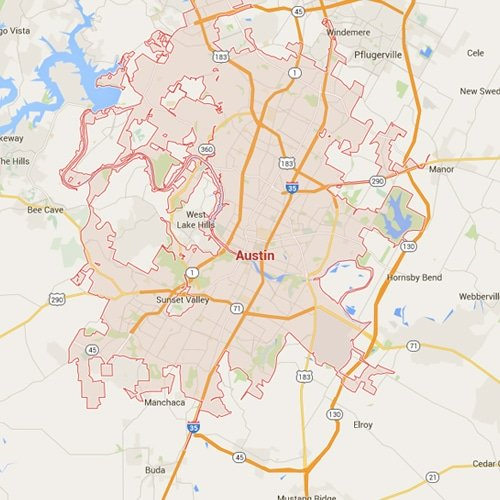 Austin Texas Map Fort Knox Home Security