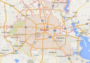 Houston, Texas Map