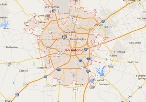 San Antonio Security Coverage Area