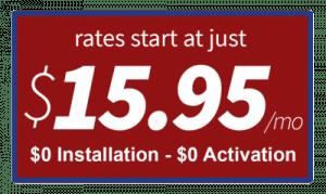 Rates Start at Just $15.95/mo