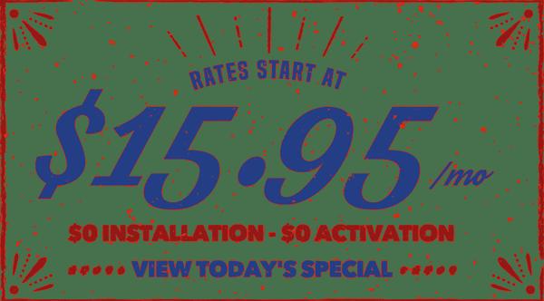 Rates Start at $15.95/mo