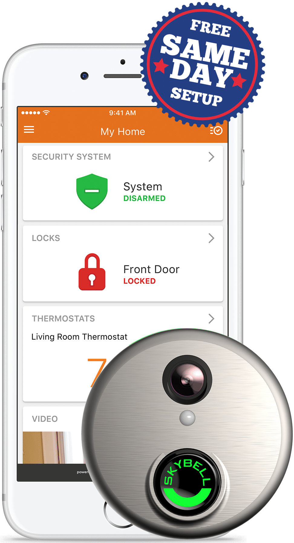 Same Day Installation of Connected Home Security