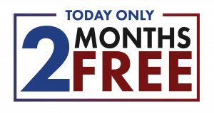 Today only 2 months free