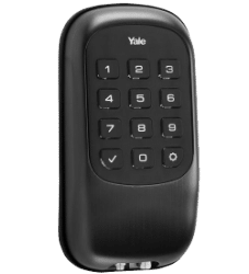 Black smart deadbolt