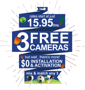 3 Free Cameras & $0 Installation & Activation